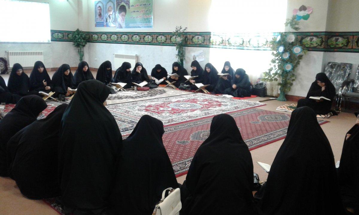 مراسم عزاداری اربعین حسینی  حوزه علمیه فاطمیه سلام الله علیها مشکین شهر